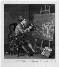william hogarth malt thalia, die muse der dichtung by william hogarth