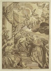die mystische vermählung der hl. katharina (after paolo veronese) by john baptist jackson