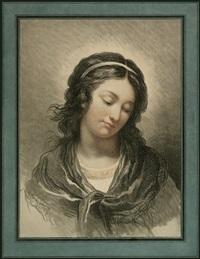 brustbildnis eines jungen mädchens (after françois-andré vincent) by gilles-antoine demarteau