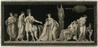 la constance de coriolan (after jean guillaume moitte) by jean françois janinet