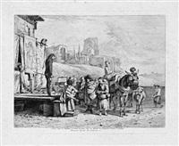 les grands charlatans (after karel dujardin) by jean-jacques de boissieu