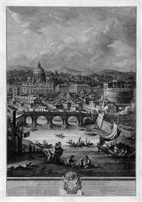roma quanta fuit ipsa ruina docet: blick auf das forum romanum, das kolosseum und s. giovanni in laterano, am horizont die castelli romani by giuseppe vasi