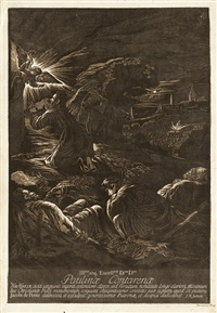 christus am ölberg (after jacopo tintoretto) by john baptist jackson