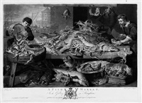 a fish market - der fischmarkt (after frans snyders) by richard earlom