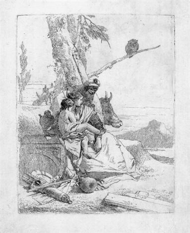 die familie des orientalischen bauern by giovanni battista tiepolo
