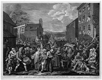 the march to finchley by william hogarth