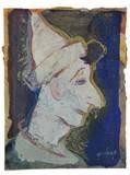 head of a pierrot by jan van heel