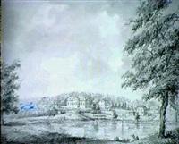 svenskt landskap med herrgard by mikael gustaf anckarsvard