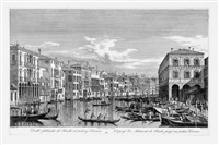 dalle fabbriche nouve al palazzo civran pl.16 (from ansichten von venedig mit verschiedenen kirchen und kanälen) (after canaletto) by antonio visentini