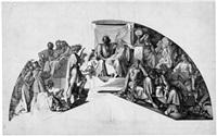 orpheus im hades (after dem fresko cornelius im göttersaal der glyptothek in münchen) by peter von cornelius