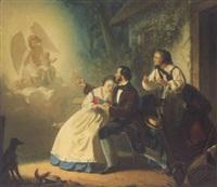 ein engel verheißt einem jungen paar die geburt eines kindes by paul burde