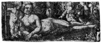 liegende venus mit cupido by albrecht altdorfer