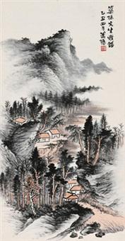 夏山欲雨图 by xiao xun