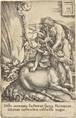 hercules and the hind (from the labors of hercules) by heinrich aldegrever