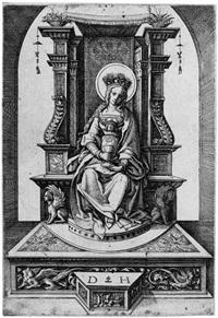 die thronende heilige barbara by daniel hopfer