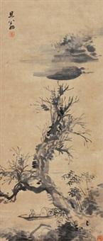 夏日渔隐图 by dong qichang