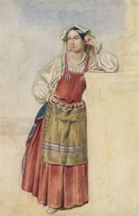 stehende italienerin by albert heinrich brendel