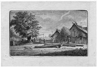 landschaft mit dem geburtshause schmidt's (+ 8 others; 9 works) by georg friedrich schmidt