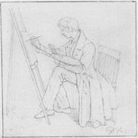bildnis eines malers an der staffelei by georg friedrich kersting