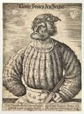 kuntz (conrad) von der rosen, court jester of emperor maximilian i by daniel hopfer