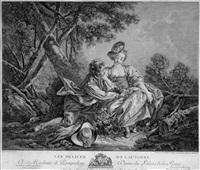 les délices de l'automne (after françois boucher) by jean daulle