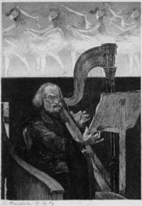 harfenspieler in der pariser oper by charles paul renouard