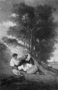 spielende kinder by francois germain leopold tabar(t)