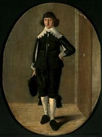 porträt eines stehenden kavaliers by gerard van donck