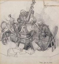 lustiges trio by lyonel feininger