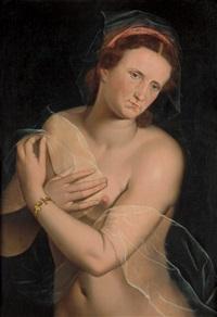 bildnis einer unbekannten dame als venus pudica by vincent sellaer