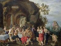 göttermahl (die hochzeit von peleus und thetis) by willem van herp the elder