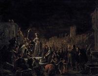 judith präsentiert das abgeschlagene haupt des holofernes den bewohnern der stadt betulia by willem de poorter