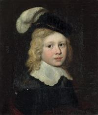 brustbild eines jungen mit federbarett by dirck dircksz van santvoort