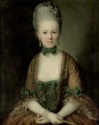 portrait der henriette caroline von carlowitz, geb. von rechenberg by anton graff
