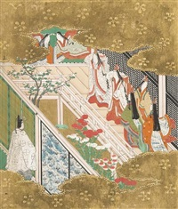 the tale of genji (album w/ 12 works and text) by japanese school-tosa (18)