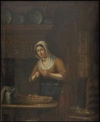 peeling potatoes by elisabeth alida van haanen