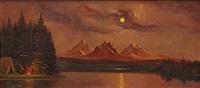 moonlight landscape by astley david middleton cooper