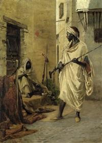 arabische händler im souk by rudolf von voigtländer