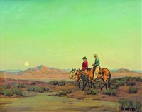 cowboys at dusk by karl albert