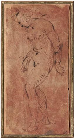 stehender weiblicher akt by romanino girolamo romani