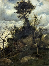 trees on the hill by karl heffner