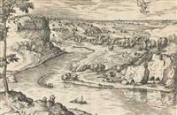 arti et ingenio stat sine morte decus (flusslandschaft mit merkur und psyche) by pieter brueghel the elder