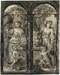 die vier jahreszeiten: sommer und herbst (+ winter und frühling; 2 works) by erasmus quellinus the younger