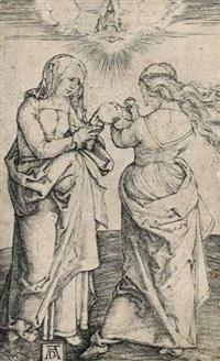die hl. anna u. maria mit dem kinde stehend (die hl. anna selbdritt) by albrecht dürer