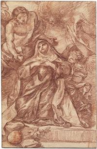 christus erscheint einer heiligen by jean-robert ango