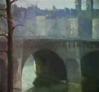 pont neuf...l'horloge by arthur atkins