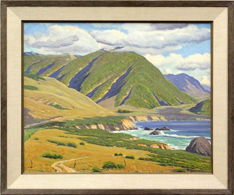 mount doud big sur by arthur hill gilbert