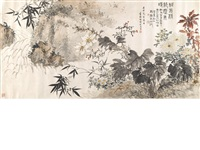 flowers by a rushing brook by ma wanli