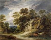 englische landschaft mit einem landhaus by gainsborough dupont