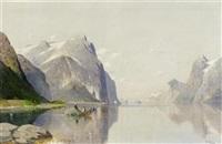 fjordlandschaft by fritz chwala